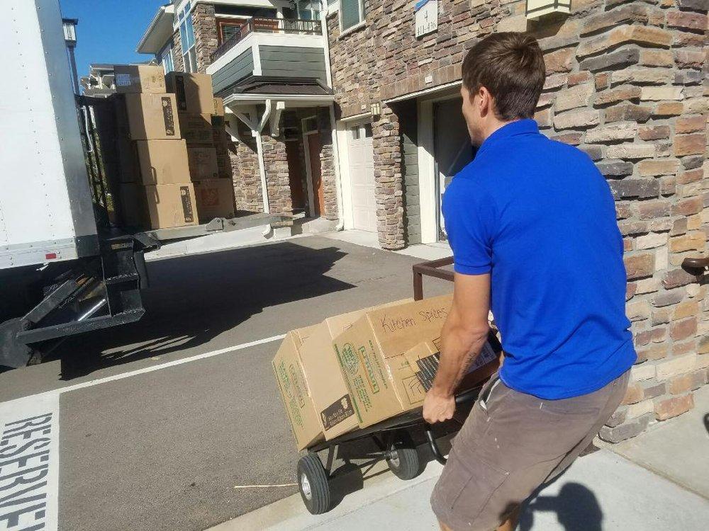 Loading a truck Denver